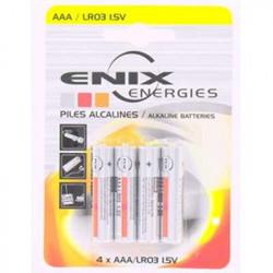 ENIX ENERGIES Blister 4 piles Alcaline LR03 NX 1,5V 1,46Ah