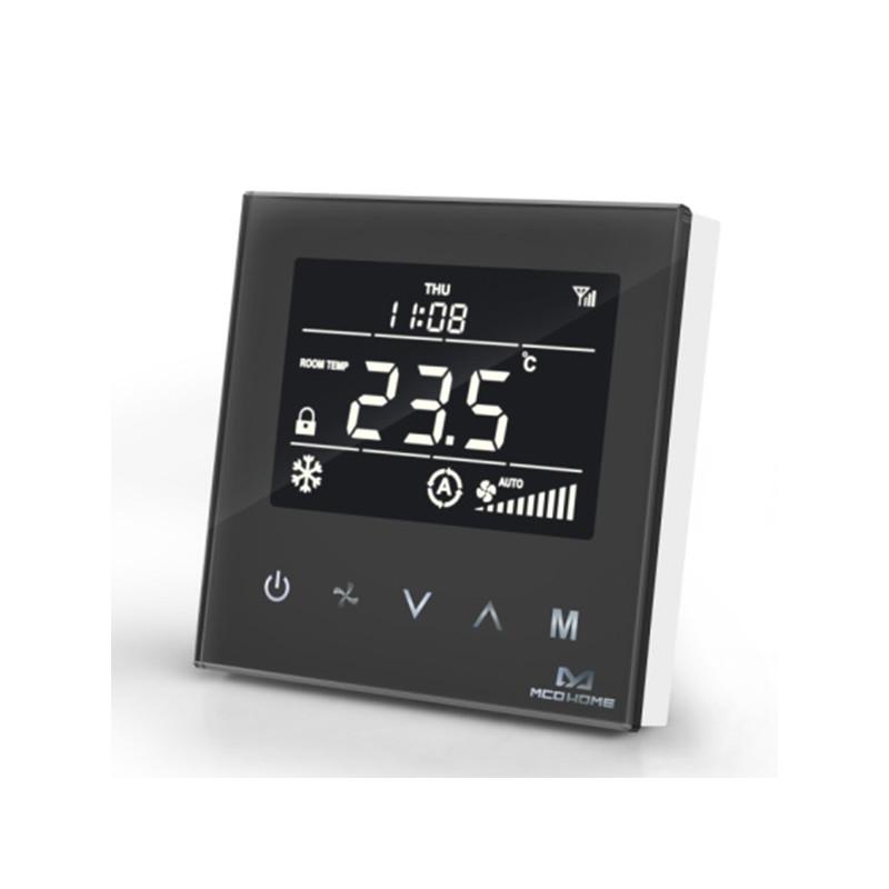 MCOHOME - Thermostat pour ventilo-convecteur à 2 tubes Z-Wave+, noir