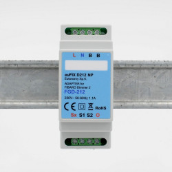 EUTONOMY - Adaptateur euFIX DIN pour Fibaro FGD-212 (sans boutons)