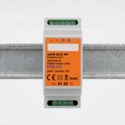 EUTONOMY - Adaptateur euFIX DIN pour Fibaro FGS-212/FGS-214 (sans boutons)