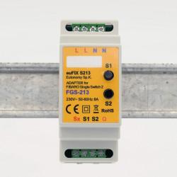 EUTONOMY - Adaptateur euFIX DIN pour Fibaro FGS-213 (avec boutons)