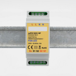 EUTONOMY - Adaptateur euFIX DIN pour Fibaro FGS-223 (sans boutons)