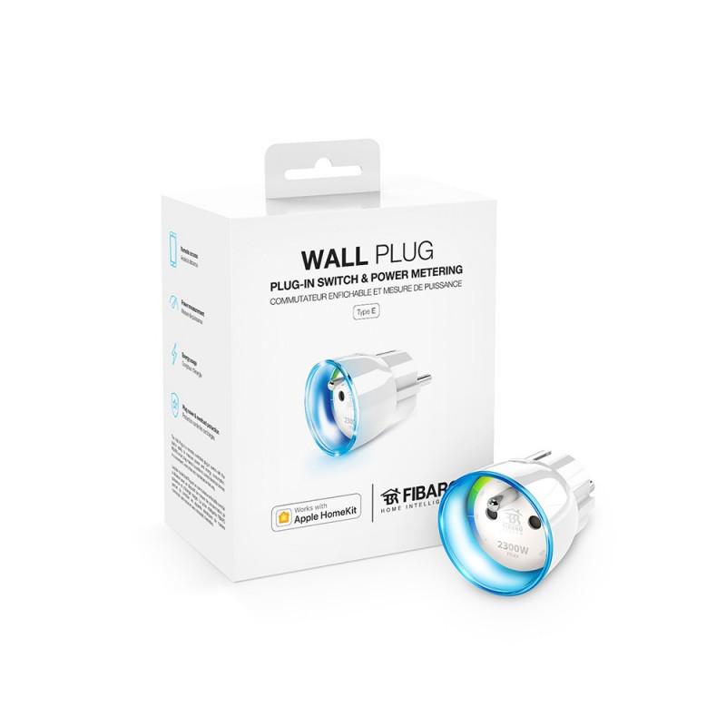 FIBARO - Module prise et consomètre HomeKit Fibaro Wall Plug, FR