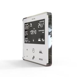 HELTUN - Thermostat Z-Wave+ pour chauffage électrique (blanc/chrome)