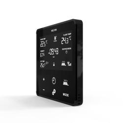 HELTUN - Thermostat Z-Wave+ pour chauffage électrique (noir)