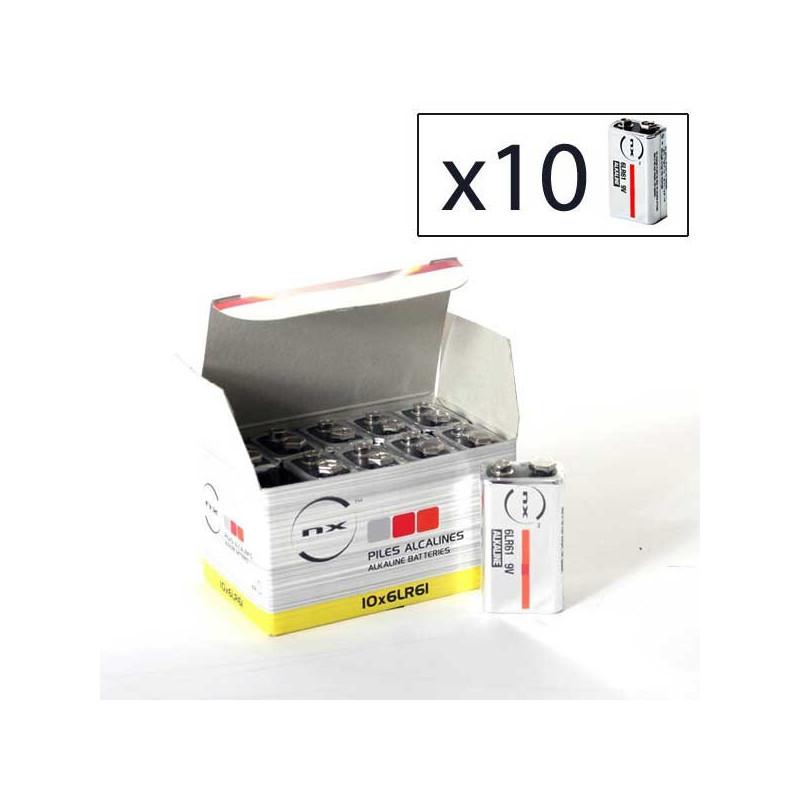 ENIX ENERGIES Boite 10 piles Alcaline 6LR61 NX 9V 0,68Ah