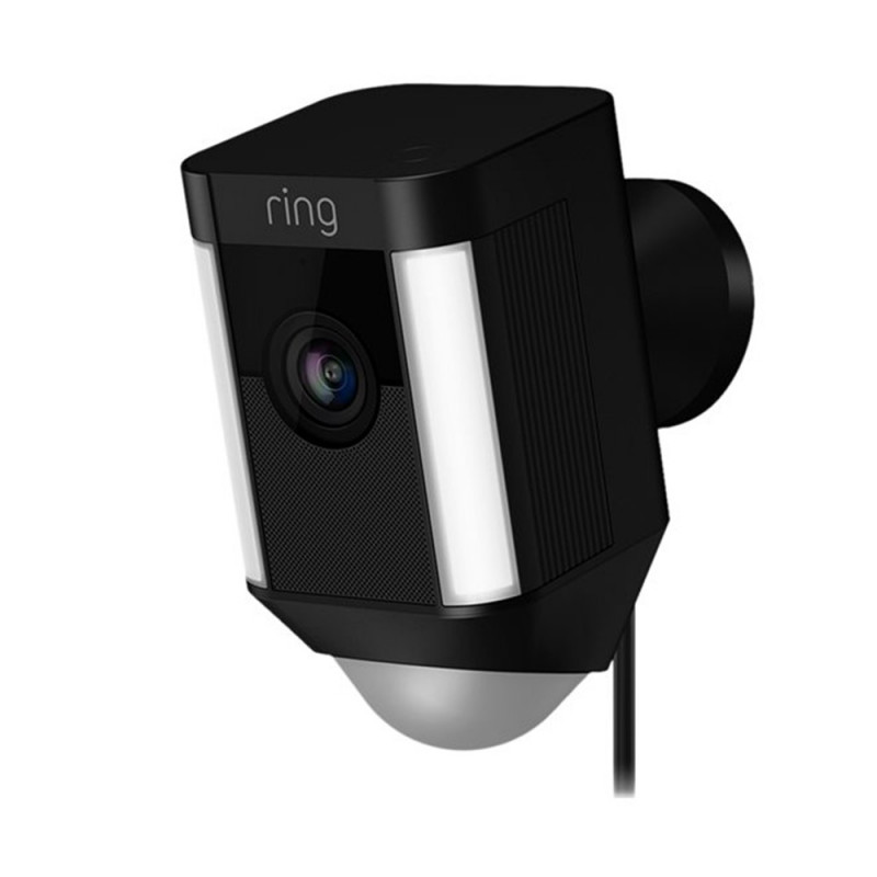 RING - Caméra filaire Spotlight Noire