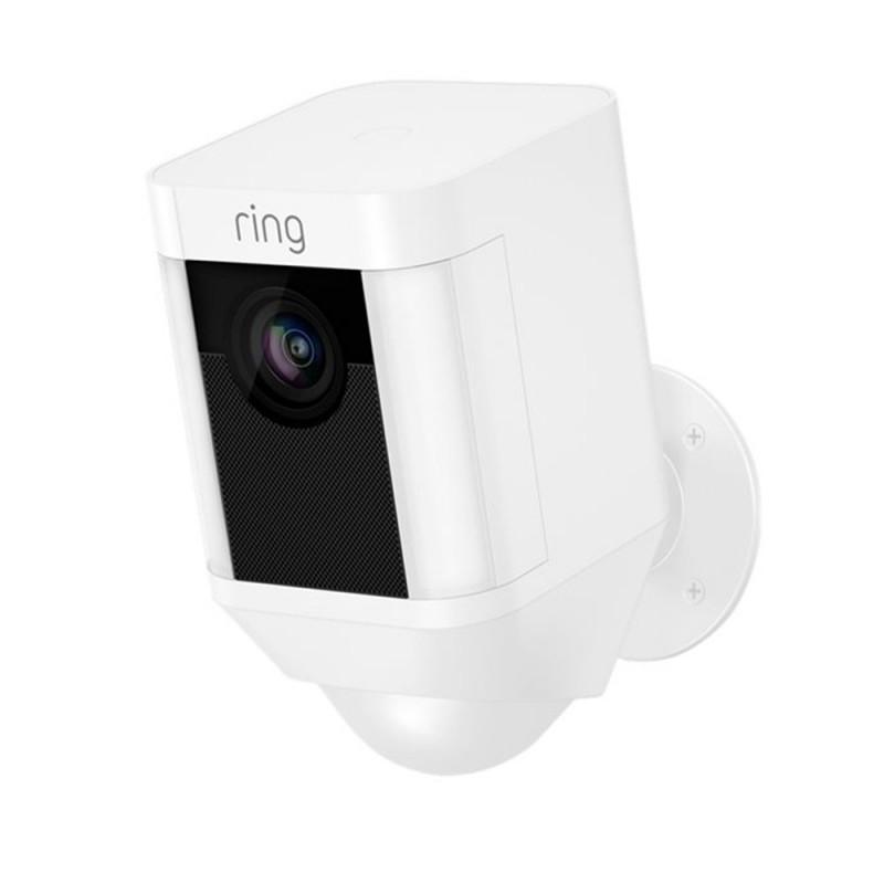 RING - Caméra sur Batterie Spotlight Blanche