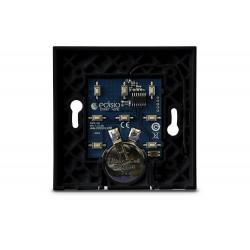 EDISIO - Base d'interrupteur Noire 1 à 5 canaux