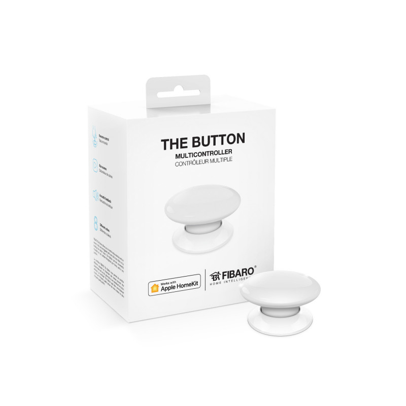 FIBARO - Contrôleur de scènes Fibaro Button Bluetooth HomeKit, blanc