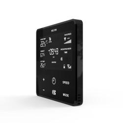 HELTUN - Thermostat Z-Wave+ pour ventilo-convecteur (verre et cadre noir)