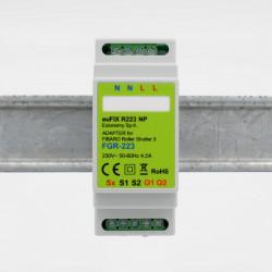 EUTONOMY - Adaptateur euFIX DIN pour Fibaro FGR-223 (sans boutons)
