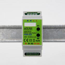 EUTONOMY - Adaptateur euFIX DIN pour Fibaro FGR-223 (avec boutons)