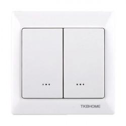 TKB HOME TZ66D Interrupteur double Z-Wave Blanc