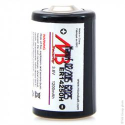 MICROBATT - Pile lithium industrie ER14250 taille 1/2AA 3.6V 1.2Ah