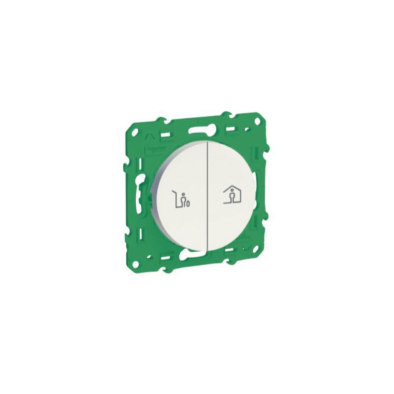 SCHNEIDER ELECTRIC - Interrupteur double sans fil sans pile pour commande scène entrée/sortie (pièce)