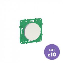 SCHNEIDER ELECTRIC - Interrupteur sans fil sans pile pour éclairage (lot de 10) ODACE SFSP