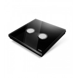 EDISIO - Plaque de recouvrement Diamond - Noir 2 Touches