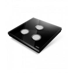 EDISIO - Plaque de recouvrement Diamond - Noir 3 Touches