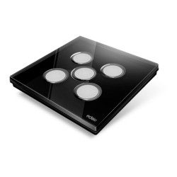EDISIO - Plaque de recouvrement Diamond - Noir 5 Touches