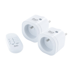 DiO - 2 Mini Prises DiO Connect WiFi/433MHz et télécommande