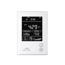 MCOHOME - Capteur d'humidité, température et Co2 avec écran Z-Wave+ (230VAC)