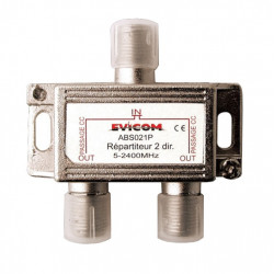 EVICOM Répartiteur passif 2 sorties, 5 - 2,4 GHz