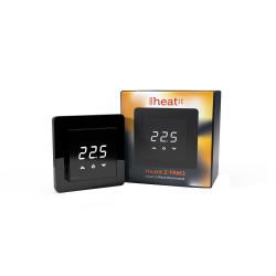 HEATIT CONTROLS - Thermostat Z-Wave+ pour plancher chauffant électrique 16A Z-TRM3, noir