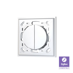 TRIO2SYS - Interrupteur mural Zigbee 2 boutons compatible ODACE