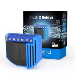QUBINO - Micromodule commutateur 2 relais et consomètre Z-Wave+ ZMNHBD1 Flush 2 Relay