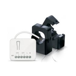 PHILIO - Micromodule compteur d'energie Z-Wave+ avec 2 pinces ampèremétriques