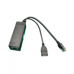 DOMADOO - Adaptateur Splitter PoE actif vers 5V DC 2.1A avec connecteur USB pour JEEDOM ou EEDOMUS