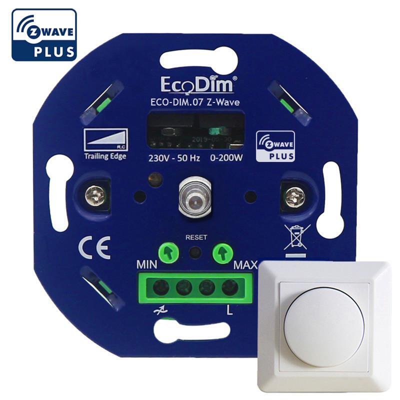 ECODIM - Interrupteur variateur rotatif Z-Wave+ 200W