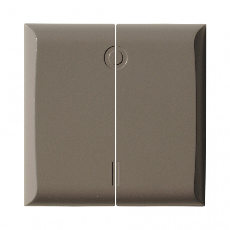 DiO - Cache interrupteur double couleur taupe