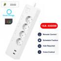 LELLKI - Multiprise connectée Zigbee 3.0 - 4 prises + 2 ports USB
