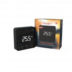 HEATIT CONTROLS - Thermostat Z-Wave+ sans fil Z-Temp2, noir