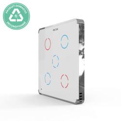RECONDITIONNE - HELTUN - Interrupteur tactile Z-Wave+ 700 Quinto (5 boutons) blanc/argent