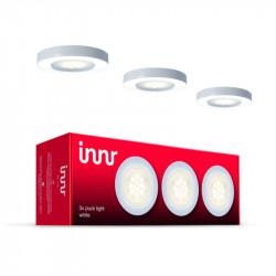 INNR - Pack de 3 Pucks encastrables - Blanc chaud - 2700K - Intensité réglable