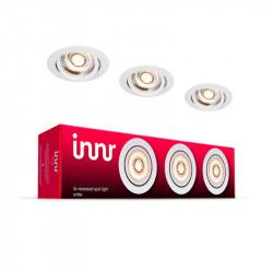 INNR - Plafonnier encastrable métal - Pack de 3 - Blanc chaud - 2700K avec Driver LED