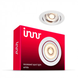 INNR - Plafonnier encastrable métal - 1 spot additionnel - Blanc chaud - 2700K