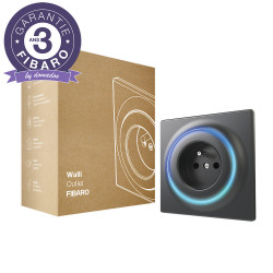 FIBARO - Prise murale intelligente Z-Wave+ Fibaro Walli Outlet type E Anthracite
