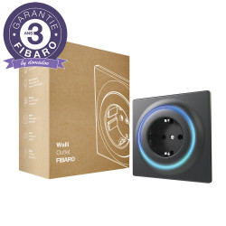 FIBARO - Prise murale intelligente Z-Wave+ Fibaro Walli Outlet type F (Schuko) Anthracite