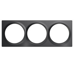 FIBARO - Plaque de finition triple Walli Anthracite