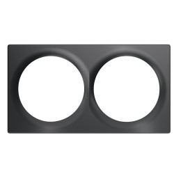 FIBARO - Plaque de finition double Walli Anthracite