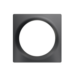 FIBARO - Plaque de finition simple Walli Anthracite