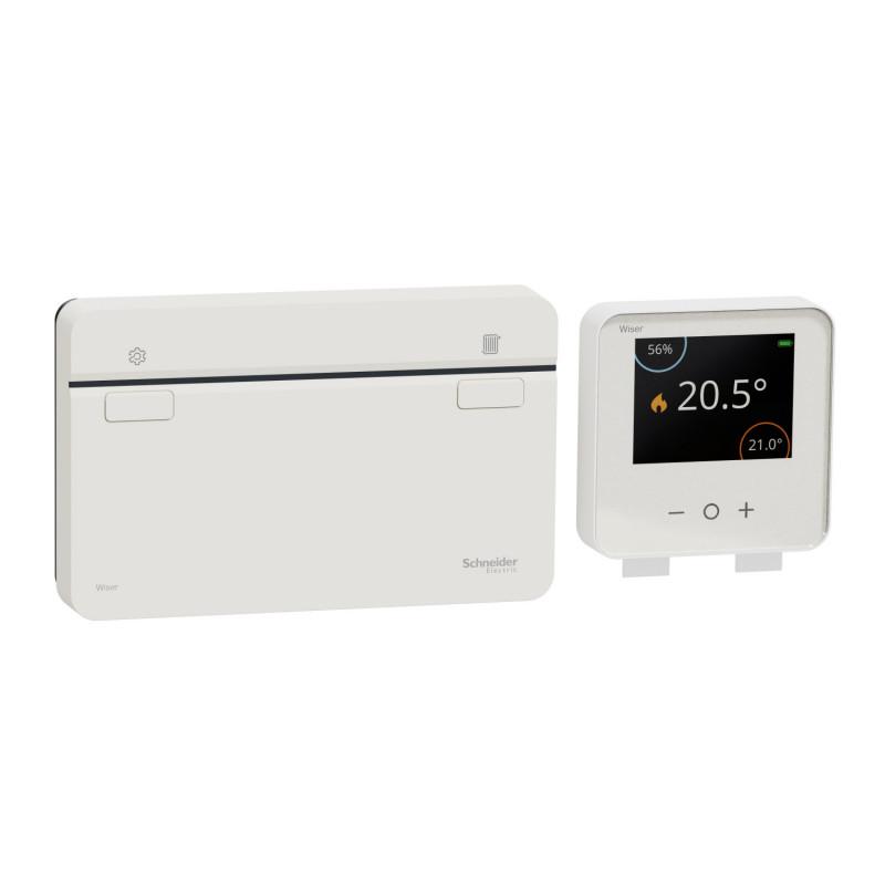 SCHNEIDER ELECTRIC - Kit de démarrage thermostat connecté pour chaudière Wiser