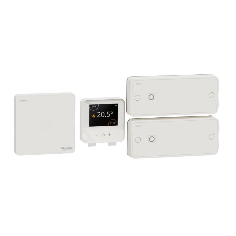 SCHNEIDER ELECTRIC - Kit de démarrage thermostat connecté pour radiateurs électriques Wiser