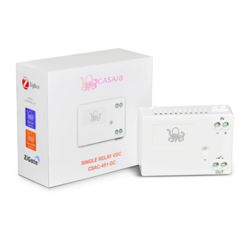CASA.IA - Module relais contact sec Zigbee (6-24V DC)