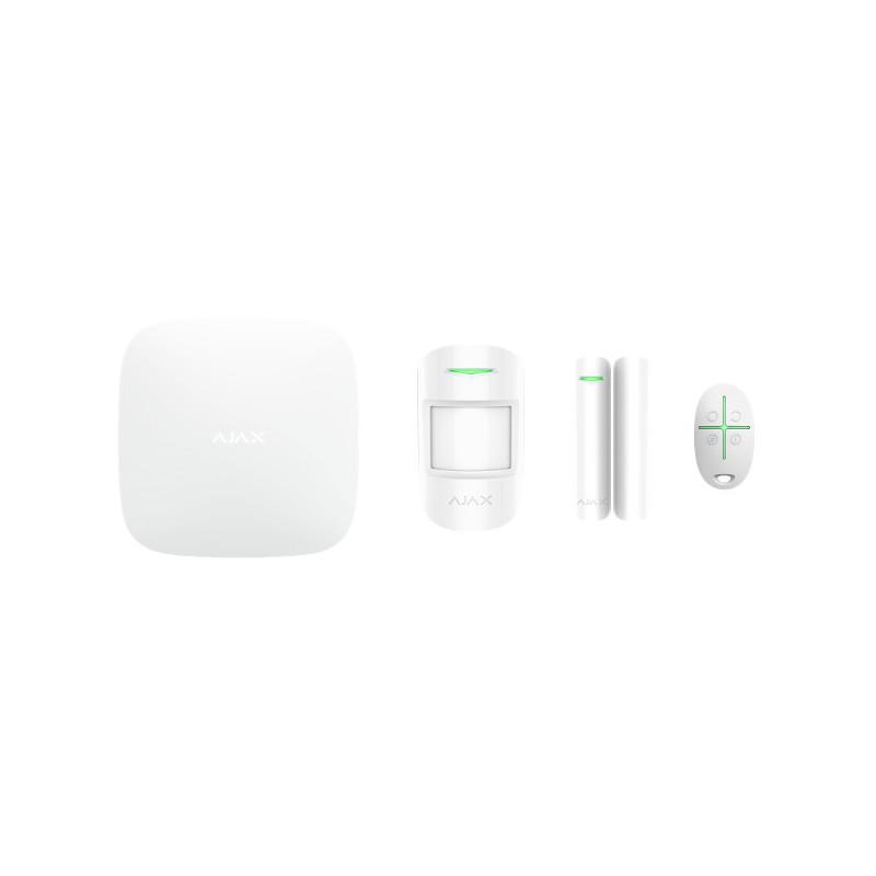 AJAX - Starter kit (Hub + DoorPortect + MotionProtect + SpaceCobtrol) blanc