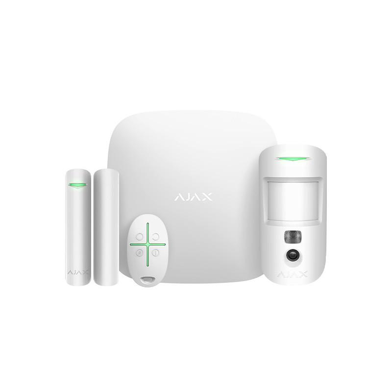 AJAX - Starter kit Cam (Hub2 + DoorProtect + MotionProtectCam + SpaceControl) blanc